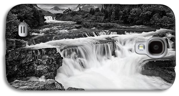 Mountain Paradise In Black And White Galaxy S4 Case by Mark Kiver