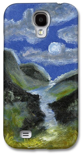 Abstract Landscape Pastels Galaxy S4 Cases - Mountain Spring In The Moonlight Galaxy S4 Case by Donna Blackhall