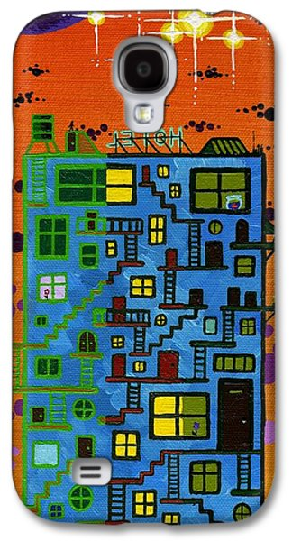 Staircase Paintings Galaxy S4 Cases - Moven On Up Galaxy S4 Case by Dan Keough