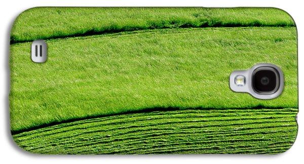 Hayfield Galaxy S4 Cases - Mowing Hay  Galaxy S4 Case by Thomas R Fletcher