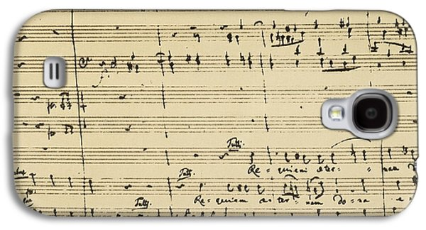 Manuscript Galaxy S4 Cases - Mozart: Requiem Excerpt Galaxy S4 Case by Granger