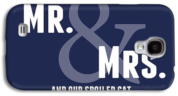Bedroom Art Digital Art Galaxy S4 Cases - Mr and Mrs and Cat Galaxy S4 Case by Linda Woods