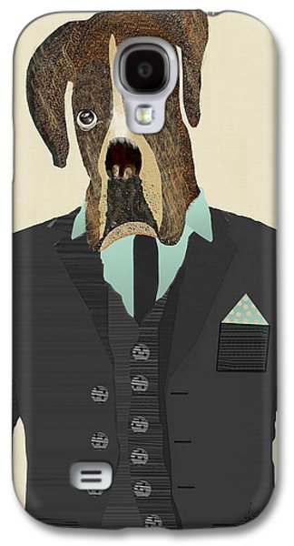 Boxer Dog Digital Galaxy S4 Cases - Mr Boxer Galaxy S4 Case by Bri Buckley