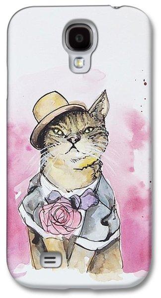Mr Cat In Costume Galaxy S4 Case by Venie Tee