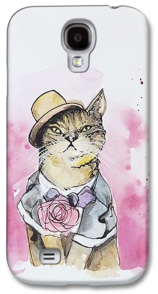 Fashion Galaxy S4 Cases - Mr Cat in costume Galaxy S4 Case by Venie Tee