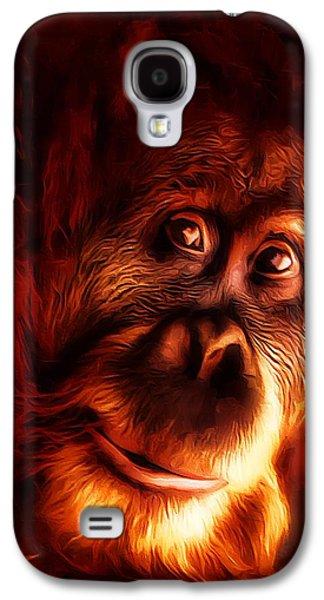 Mr Orangutan Portrait  Galaxy S4 Case by Scott Wallace