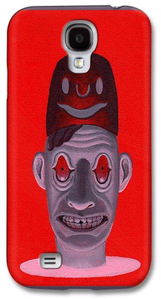Creepy Galaxy S4 Cases - Mr. Stood Galaxy S4 Case by Adam Keene