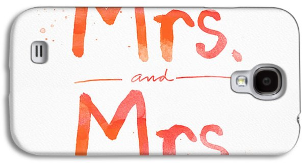 Wife Galaxy S4 Cases - Mrs and Mrs Galaxy S4 Case by Linda Woods