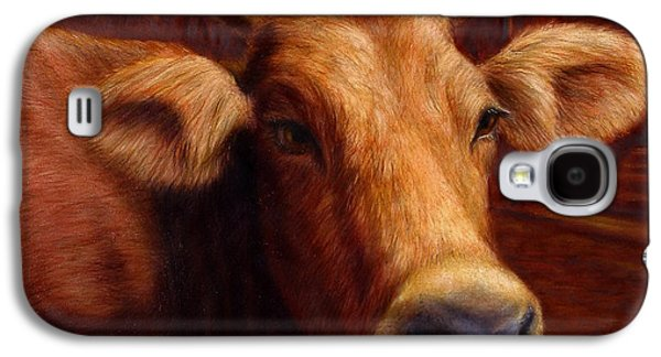 Animal Galaxy S4 Cases - Mrs. OLearys Cow Galaxy S4 Case by James W Johnson