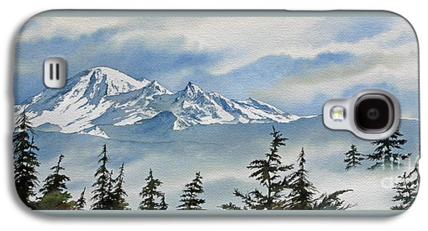 Landscape Framed Prints Galaxy S4 Cases - Mt. Baker Mist Galaxy S4 Case by James Williamson