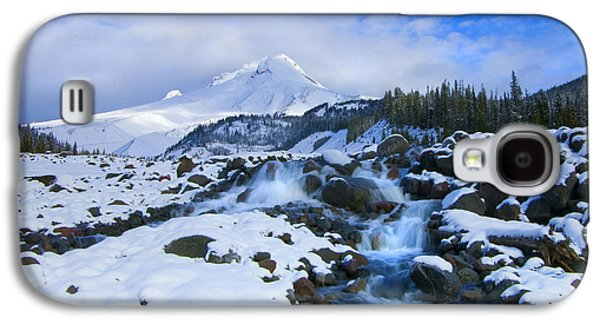 White River Galaxy S4 Cases - Mt. Hood Morning Galaxy S4 Case by Mike  Dawson