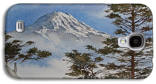 Landscape Framed Prints Galaxy S4 Cases - Mt. Rainier Landscape Galaxy S4 Case by James Williamson