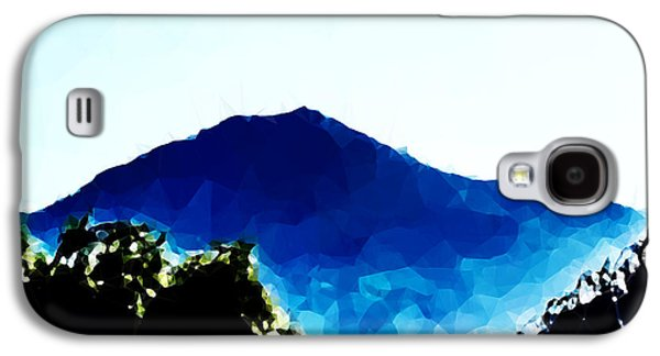 Abstract Landscape Galaxy S4 Cases - Mt. Tamalpais California in Blues Galaxy S4 Case by Heather Joyce Morrill