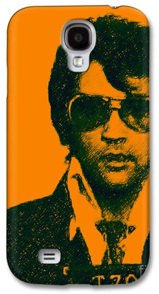Wing Tong Galaxy S4 Cases - Mugshot Elvis Presley Galaxy S4 Case by Wingsdomain Art and Photography