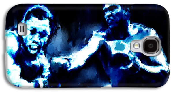 Olympic Gold Medalist Galaxy S4 Cases - Muhammad Ali and Joe Frazier Galaxy S4 Case by Brian Reaves