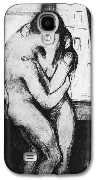 Drypoint Galaxy S4 Cases - Munch: The Kiss, 1895 Galaxy S4 Case by Granger
