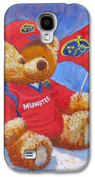 Rugby Paintings Galaxy S4 Cases - Munster Abu Galaxy S4 Case by Tomas OMaoldomhnaigh