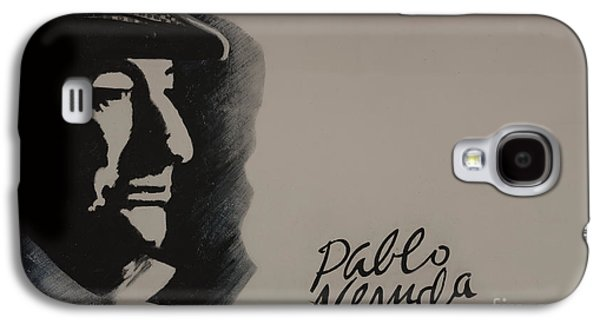 Colonial Man Photographs Galaxy S4 Cases - Mural Of Nobel Laureate Poet Pablo Neruda Galaxy S4 Case by Al Bourassa