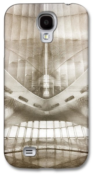 Monochromatic Digital Galaxy S4 Cases - Museum Inside Out Galaxy S4 Case by Scott Norris