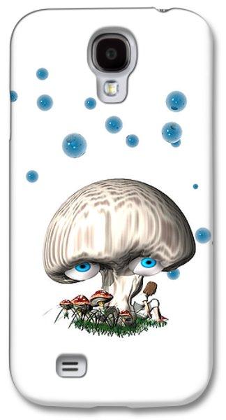 Mushroom Digital Art Galaxy S4 Cases - Mushroom dreams Galaxy S4 Case by Carol and Mike Werner