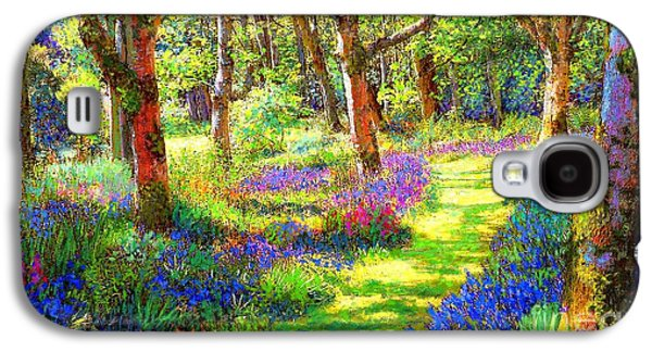 Music Of Light, Bluebell Woods Galaxy S4 Case by Jane Small