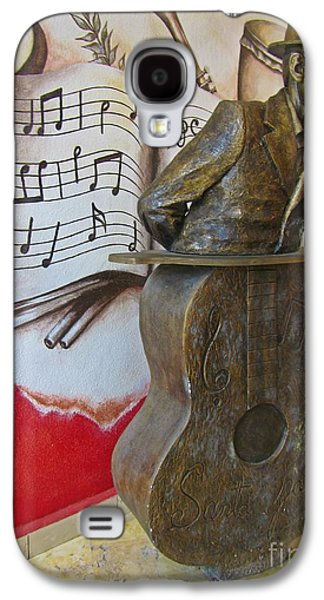 Celebrities Sculptures Galaxy S4 Cases - Musician Sculpture and Mural Galaxy S4 Case by John Malone