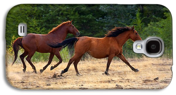 Wild Horse Galaxy S4 Cases - Mustang Gallop Galaxy S4 Case by Mike  Dawson