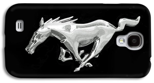 Automotive Galaxy S4 Cases - Mustang Galaxy S4 Case by Rona Black