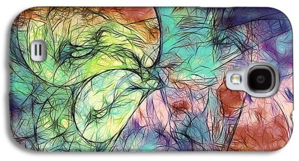 Abstracted Galaxy S4 Cases - Muted Heaven Abstract Galaxy S4 Case by Georgiana Romanovna
