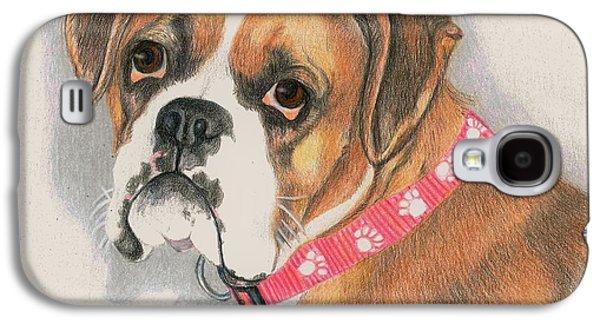 Boxer Galaxy S4 Cases - Muzzy Galaxy S4 Case by JoAnn   Morgan