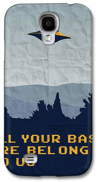 My All Your Base Are Belong To Us Meets X-files I Want To Believe Poster  Galaxy S4 Case by Chungkong Art