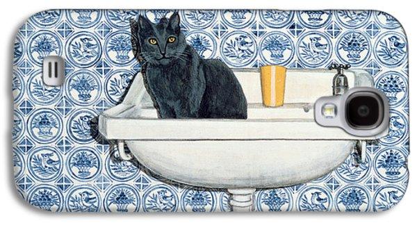 My Bathroom Cat  Galaxy S4 Case by Ditz