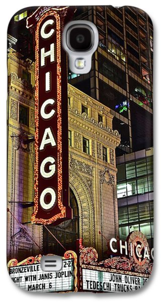 Chicago Theater Aglow Galaxy S4 Case by Frozen in Time Fine Art Photography