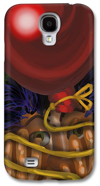 Abstract Digital Digital Galaxy S4 Cases - My Big Red Balloon Galaxy S4 Case by Mark Greulach