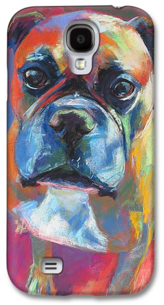 Boxer Galaxy S4 Cases - My Buddy the Boxer Galaxy S4 Case by Sandy  Lindblad
