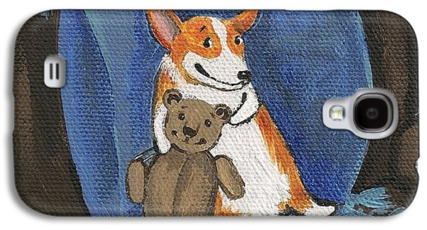 Toy Store Paintings Galaxy S4 Cases - My Friend Teddy Galaxy S4 Case by Margaryta Yermolayeva