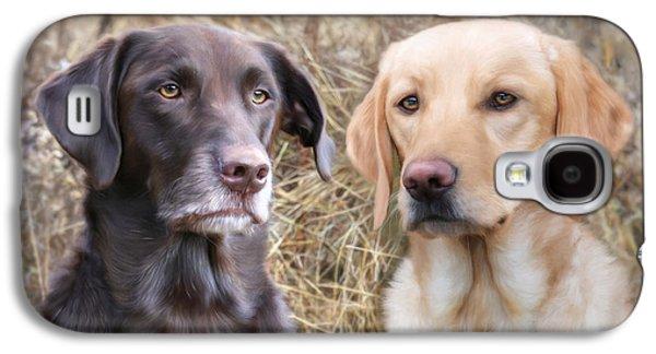 Puppy Digital Art Galaxy S4 Cases - My Girls Galaxy S4 Case by Lori Deiter