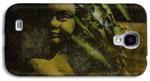 Statue Portrait Galaxy S4 Cases - My Little Angel Galaxy S4 Case by Susanne Van Hulst