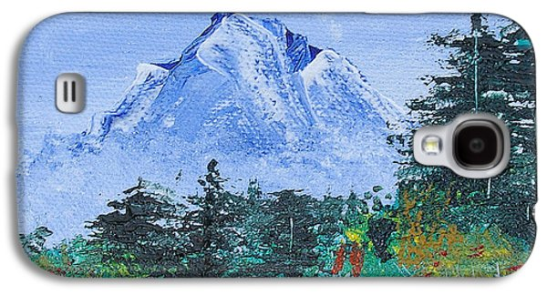 Ross Paintings Galaxy S4 Cases - My Mountain Wonder Galaxy S4 Case by Jera Sky