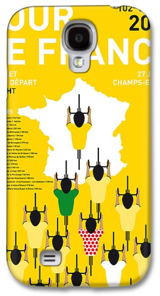 Champion Digital Art Galaxy S4 Cases - My Tour De France Minimal Poster Etapes 2015 Galaxy S4 Case by Chungkong Art