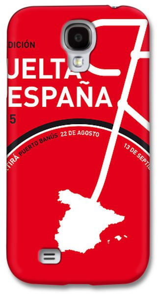 Champion Digital Art Galaxy S4 Cases - My Vuelta A Espana Minimal Poster 2015 Galaxy S4 Case by Chungkong Art