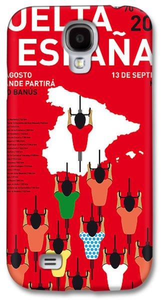 My Vuelta A Espana Minimal Poster Etapas 2015 Galaxy S4 Case by Chungkong Art