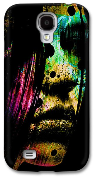 Abstract Digital Mixed Media Galaxy S4 Cases - Mysterious Girl Galaxy S4 Case by Marian Voicu