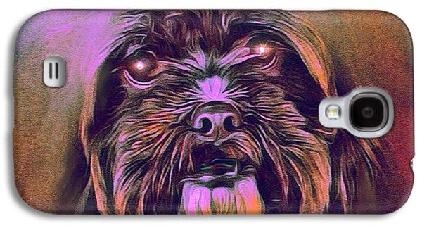 Puppies Digital Art Galaxy S4 Cases - Mystic Terrier Portrait Galaxy S4 Case by Scott Wallace