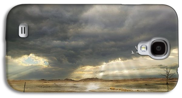 Surreal Landscape Mixed Media Galaxy S4 Cases - Mystical Light Galaxy S4 Case by Franziskus Pfleghart