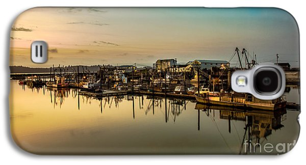 Beach Landscape Galaxy S4 Cases - Nahcotta Boat Basin Galaxy S4 Case by Robert Bales