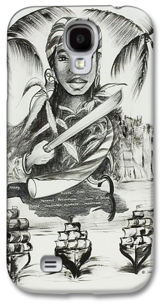 African-american Drawings Galaxy S4 Cases - Nanny of the Maroons Galaxy S4 Case by Ikahl Beckford