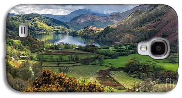 Park Scene Digital Galaxy S4 Cases - Nant Gwynant Valley Galaxy S4 Case by Adrian Evans