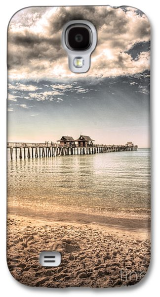 Sun Rays Galaxy S4 Cases - Naples Pier Galaxy S4 Case by Margie Hurwich