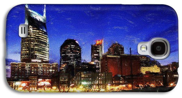Nashville Paintings Galaxy S4 Cases - Nashville At Twilight Galaxy S4 Case by Dean Wittle